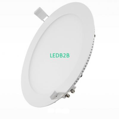 LED circular thin panel light