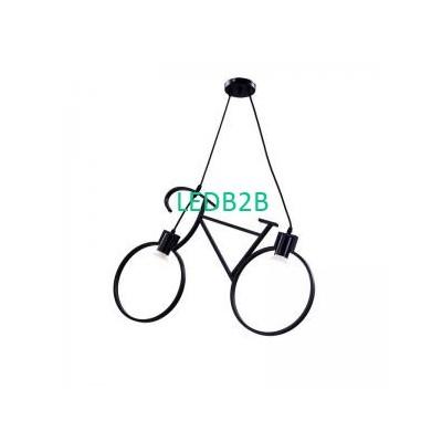 E27 White Black Bicycle Modern Ir