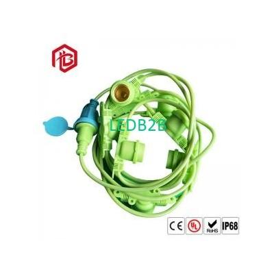 Green Nylon PVC E26 E27 Lamp Stan