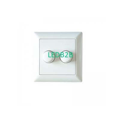 Dual Rotary 200W LED Dimmer Switc
