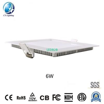 LED Square Recessed Panellight 6W