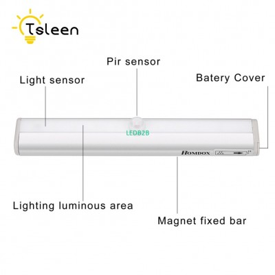 TSLEEN Closet Lamp 10 LED Night L