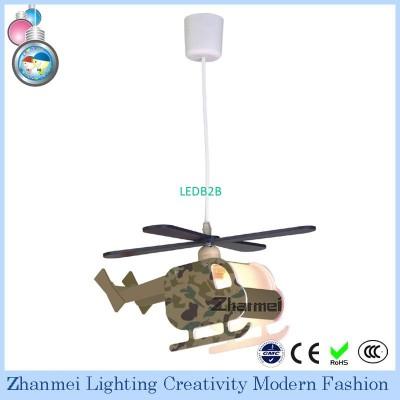 Modern Camouflage Plane Kids Lamp