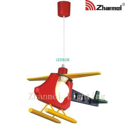 plastic airplane pendant lamp