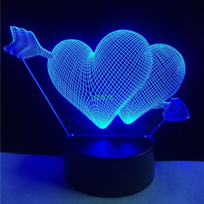 Valentines day Gift 3D Lamp LED N