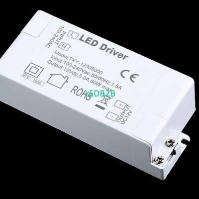 100V-240V to 12V 5A 60W LED Drive
