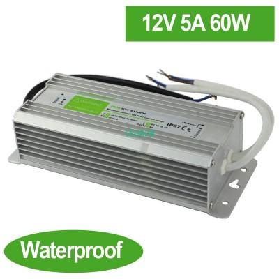Waterproof 12V 5A 60W LED Power S
