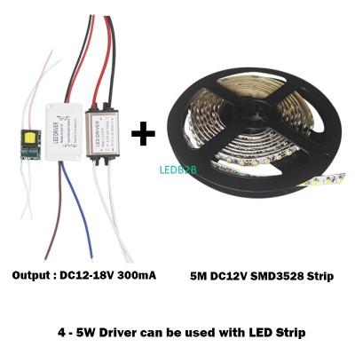 4-5W LED Plastic Driver Power Sup