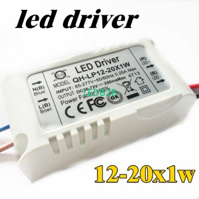 4pcs/lot 12-20x1W 300mA LED