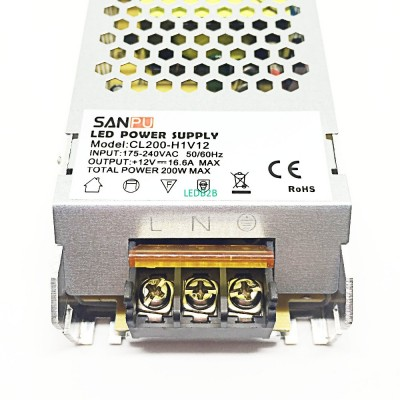 AC 175-240V DC 12V 200W  LED Driv