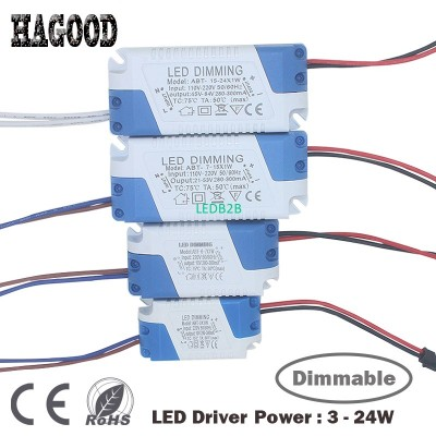 3-24W Dimmable Safe Plastic Shell
