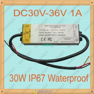 30W IP67 Waterproof Constant Curr