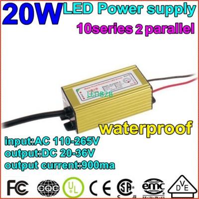 1pcs/lot1X20W Waterproof Constant