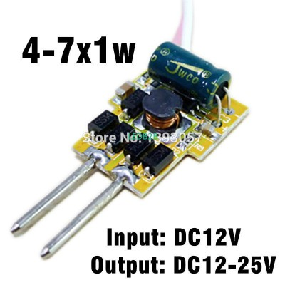 10pcs/lot 4-7x1w 300mA MR16 LED d