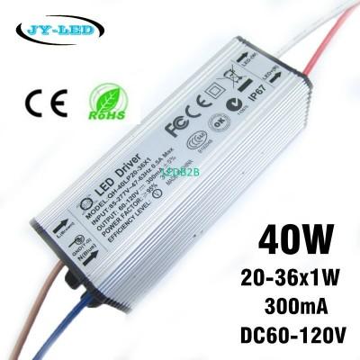 2pcs 40W LED Driver 300mA DC60-12