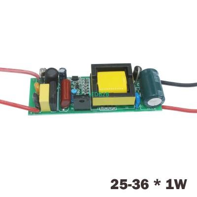 1-36W LED Driver Input AC90-265V