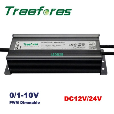 60W 0/1-10V PWM Dimmable LED Driv