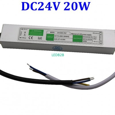 IP67 24V 20W Waterproof LED Drive