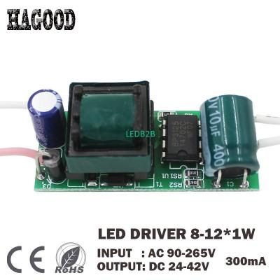 8-12W LED Driver Input AC90-265V