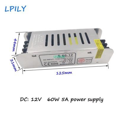 LPILY 12V power supply 5A 60W 110