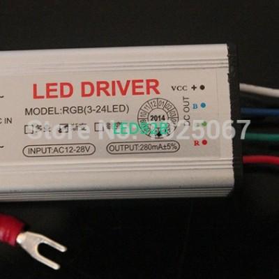 5PCS Waterproof 3W 24W RGB LED ce