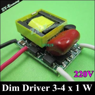 10 pcs/lot,3-4X1W Dimming driver,