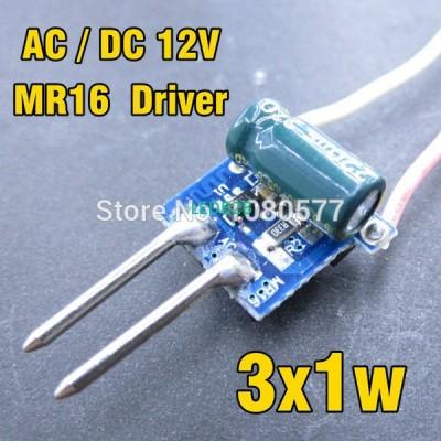 10pcs 3x1w MR16 LED driver, 300mA