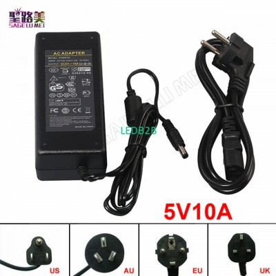 10pcs DC5V 10A power supply with