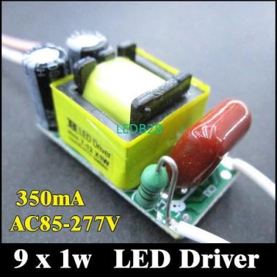 10pcs/lot 9w Driver 350mA LED Dri