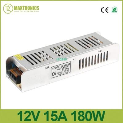 DC12V 180W 15A Slim Power Supply