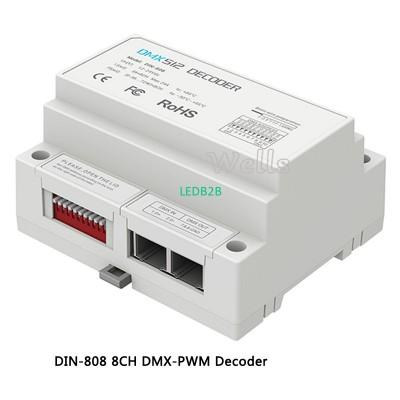 LTECH DIN-808;8CH DMX-PWM Decoder