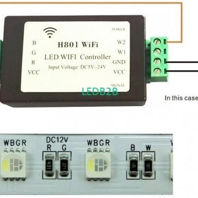 LED Strip Light Lamp H801 WiFi Co
