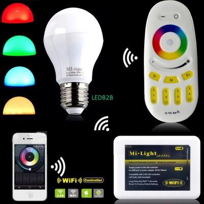 Milight 2.4G wireless E27 6W RGBW