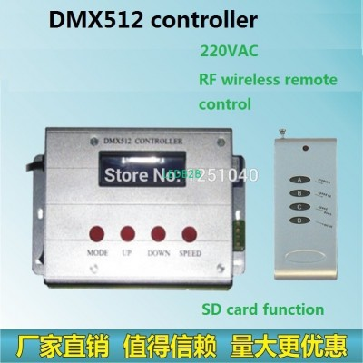 RF remote control, DMX512 RGB LED