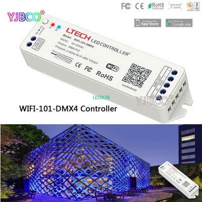 LTECH 2.4G Wifi-101-DMX4 DC12-24V