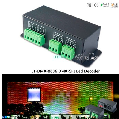 DMX-SPI Led Decoder LT-DMX-8806 ;