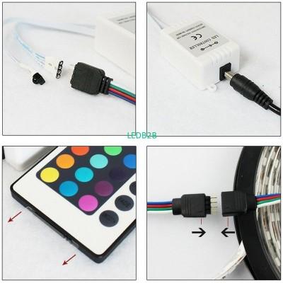 RGB LED Strips Controller IR Remo
