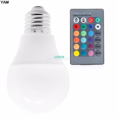 85-265V 10/15W E27 RGB LED Light