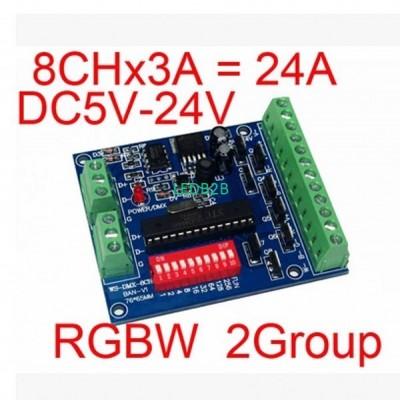 RGBW DMX Decoder 2 Groups 4-chann
