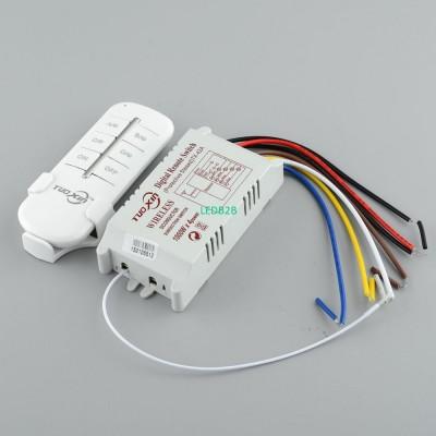 220V 4 Channel light switch Wirel