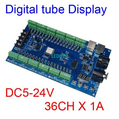 DC5V-24V 36CH RGB DMX512 decoder