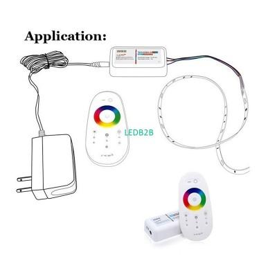DC12V-24V 2.4G Touch Screen RGBW