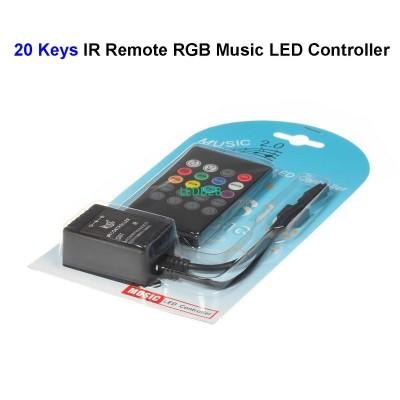 20pcs 12V 20 Keys RGB Music LED C