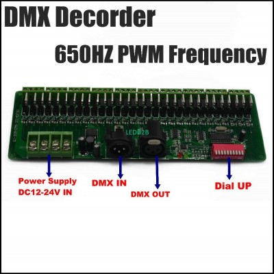 30CH DMX 650MHZ PWM decoder, DMX