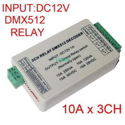 New 1 pcs WS-DMX-RELAY-3CH dmx512