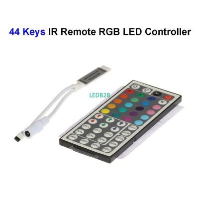 2pcs DC12V 44 Keys Wireless RGB L