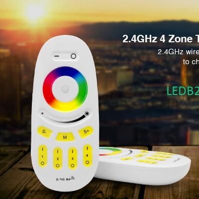 2.4G 4-ZONES RF Wireless RGBW Con