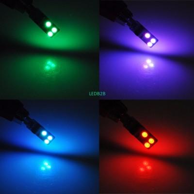 AutoEC 1 set T10 194 w5w RGB 5050