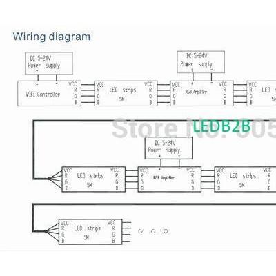 DC5-24v wireless wifi led rgb con