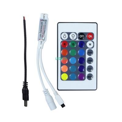 DC12V Mini 24Key RGB IR Remote Co